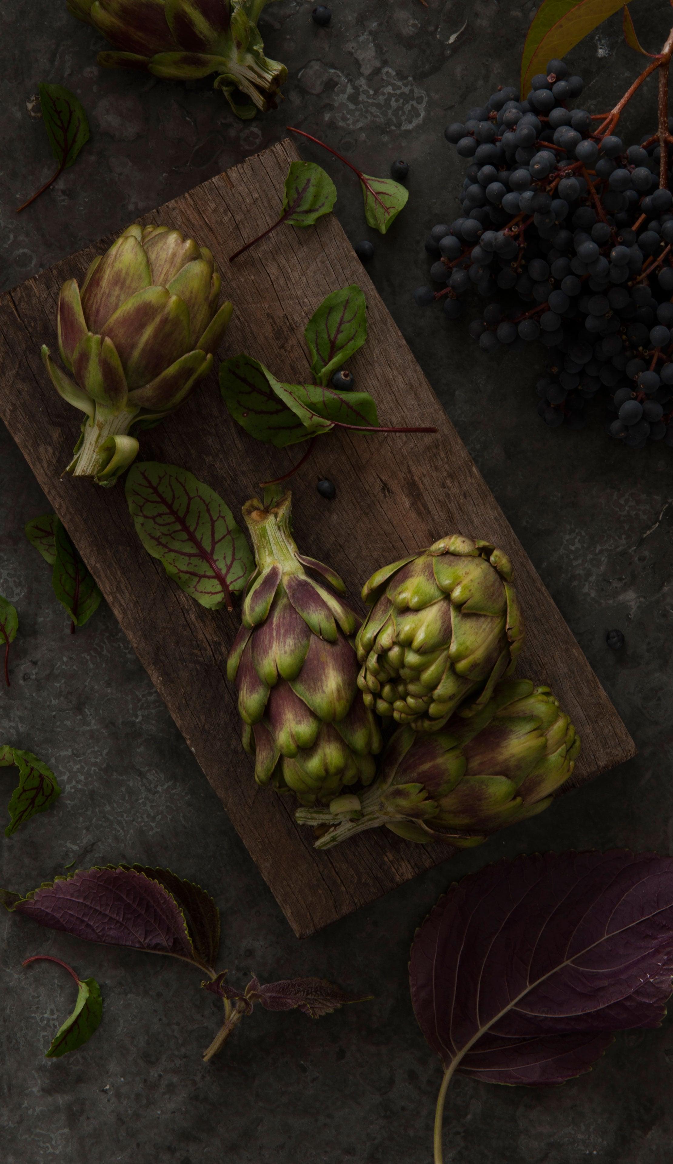 Artichoke, food styling