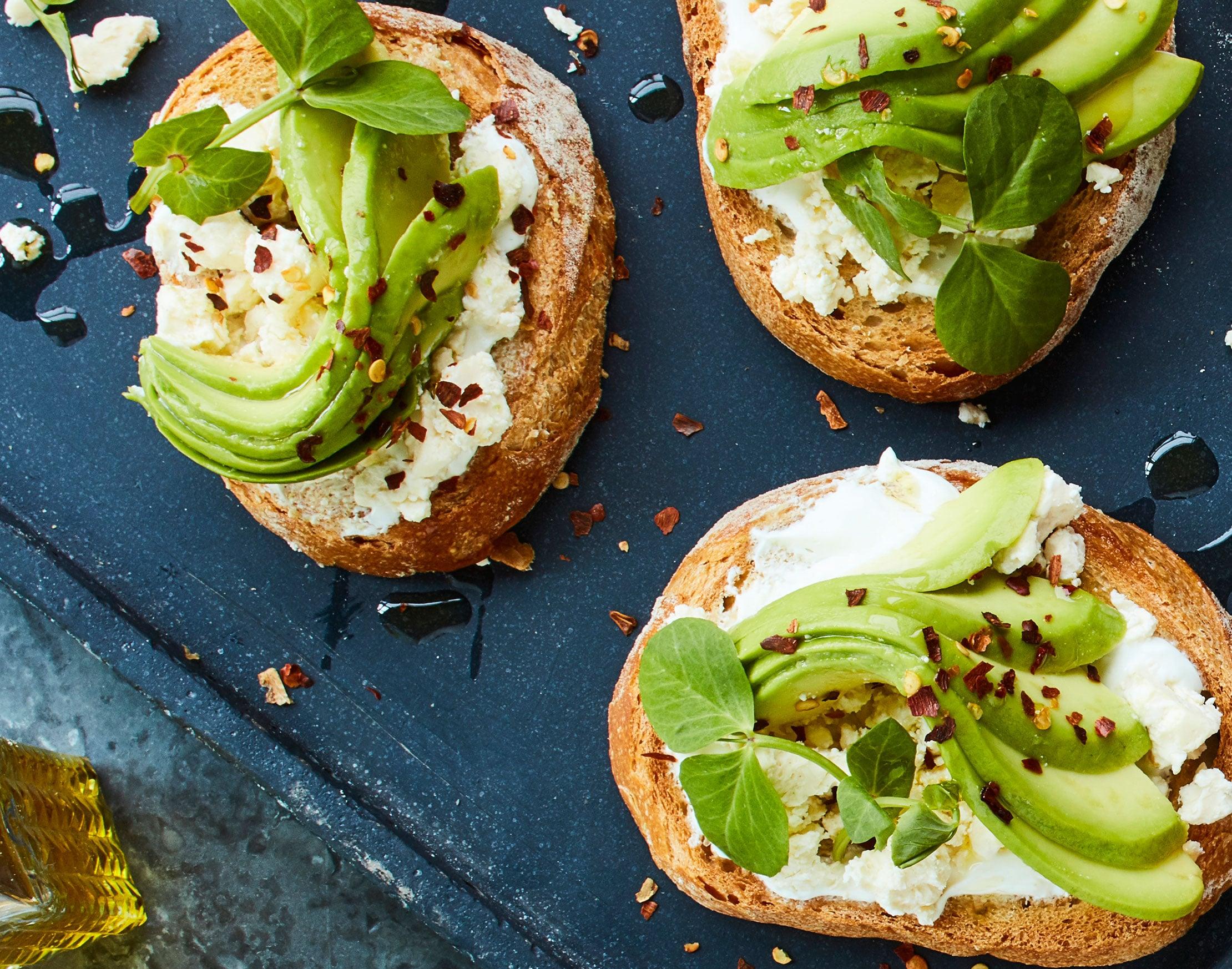 Avocado toast, food styling