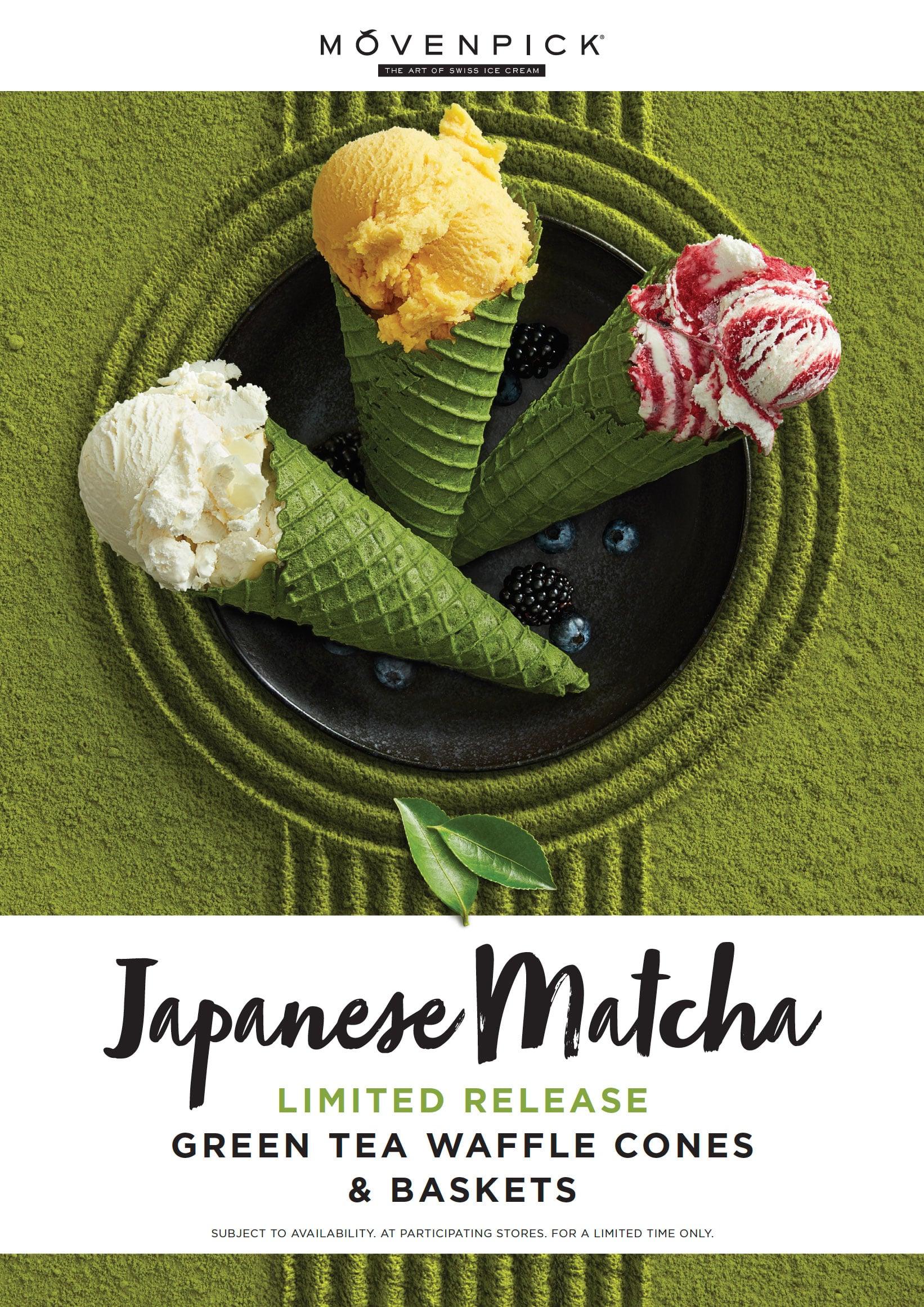 Movenpick Japanese Matcha Ice Cream, FMCG, Advertising, Food styling