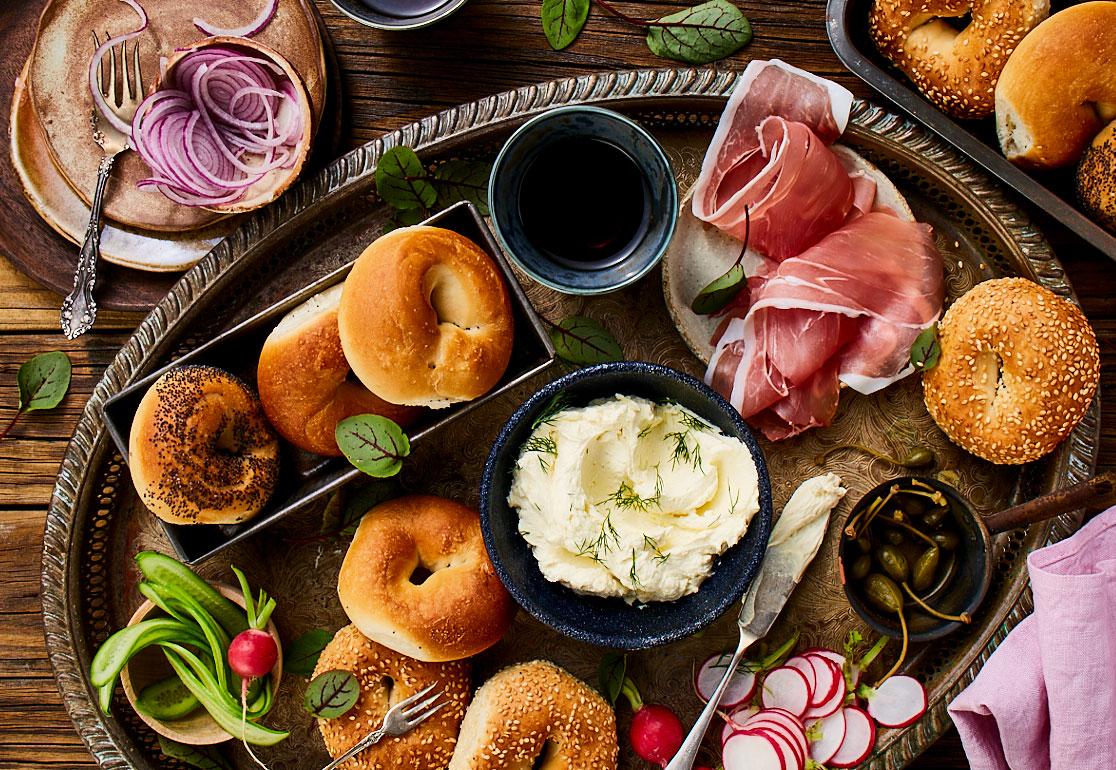 Bagel Platter Food styling