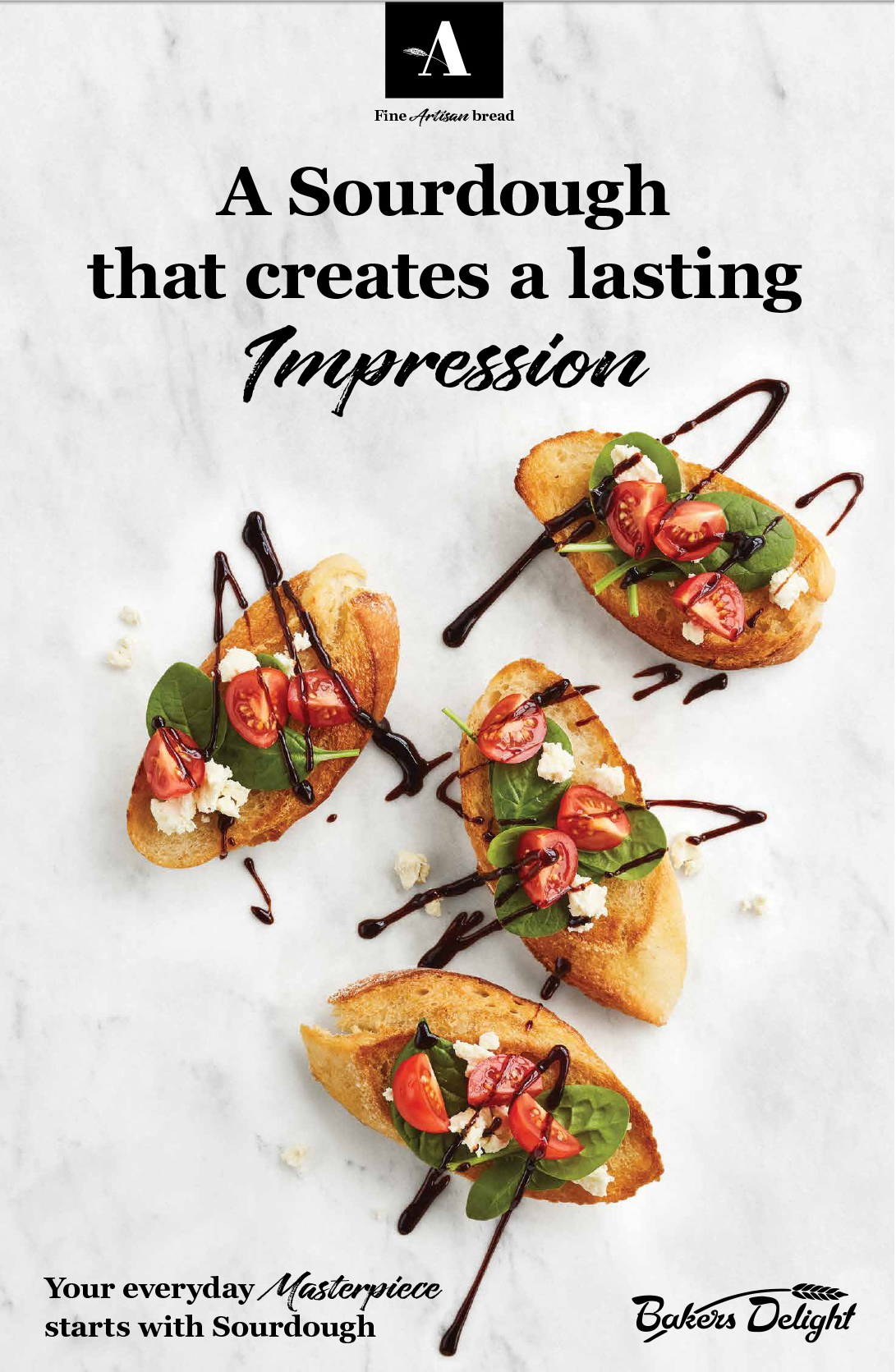 Bakers Delight FMCG Ad Food styling
