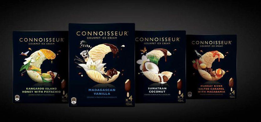 Connoisseur Ice Cream FMCG Packaging Food Styling