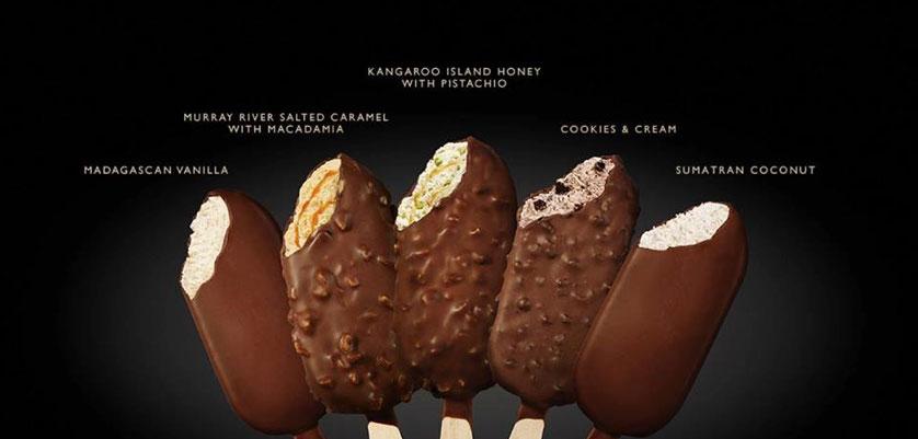 Connoisseur Ice Cream Sticks FMCG Ad Food Styling