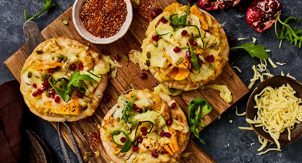 Flat Bread Dukkah Pizza Food styling