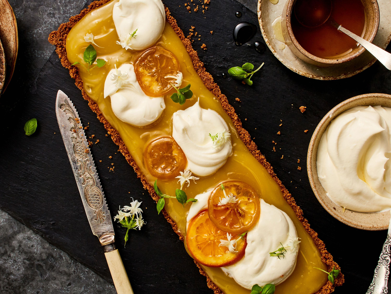 Ginger Citrus Tart Food styling