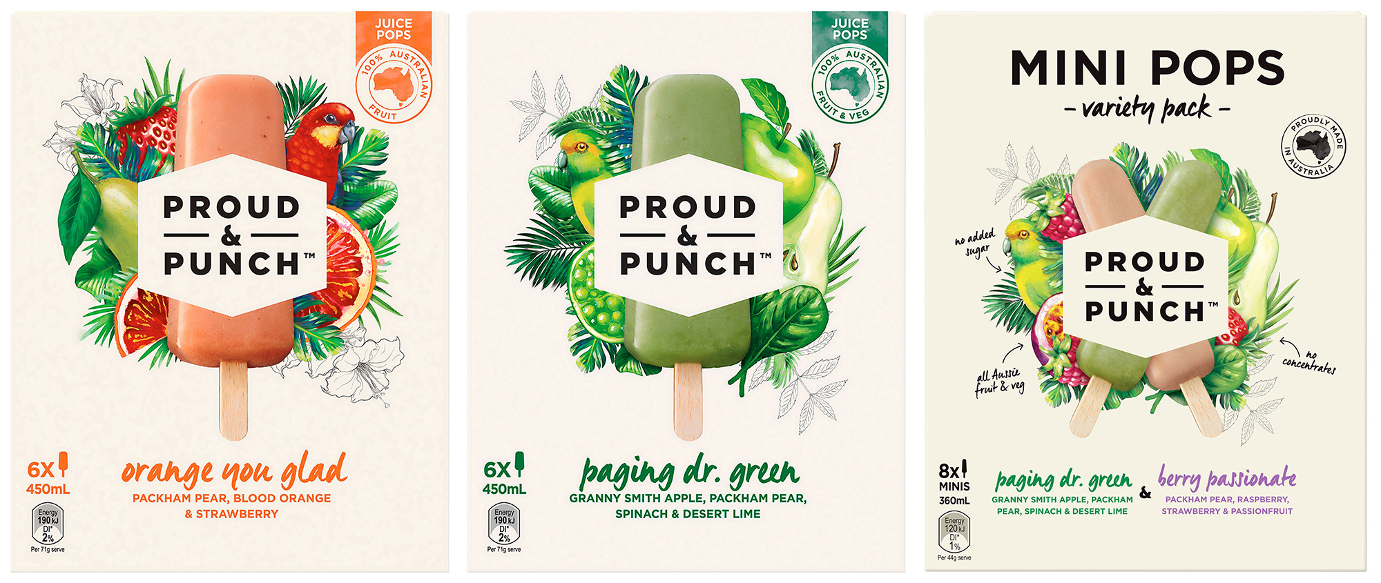 Proud Punch Juice Pops, FMCG, Food styling, packaging