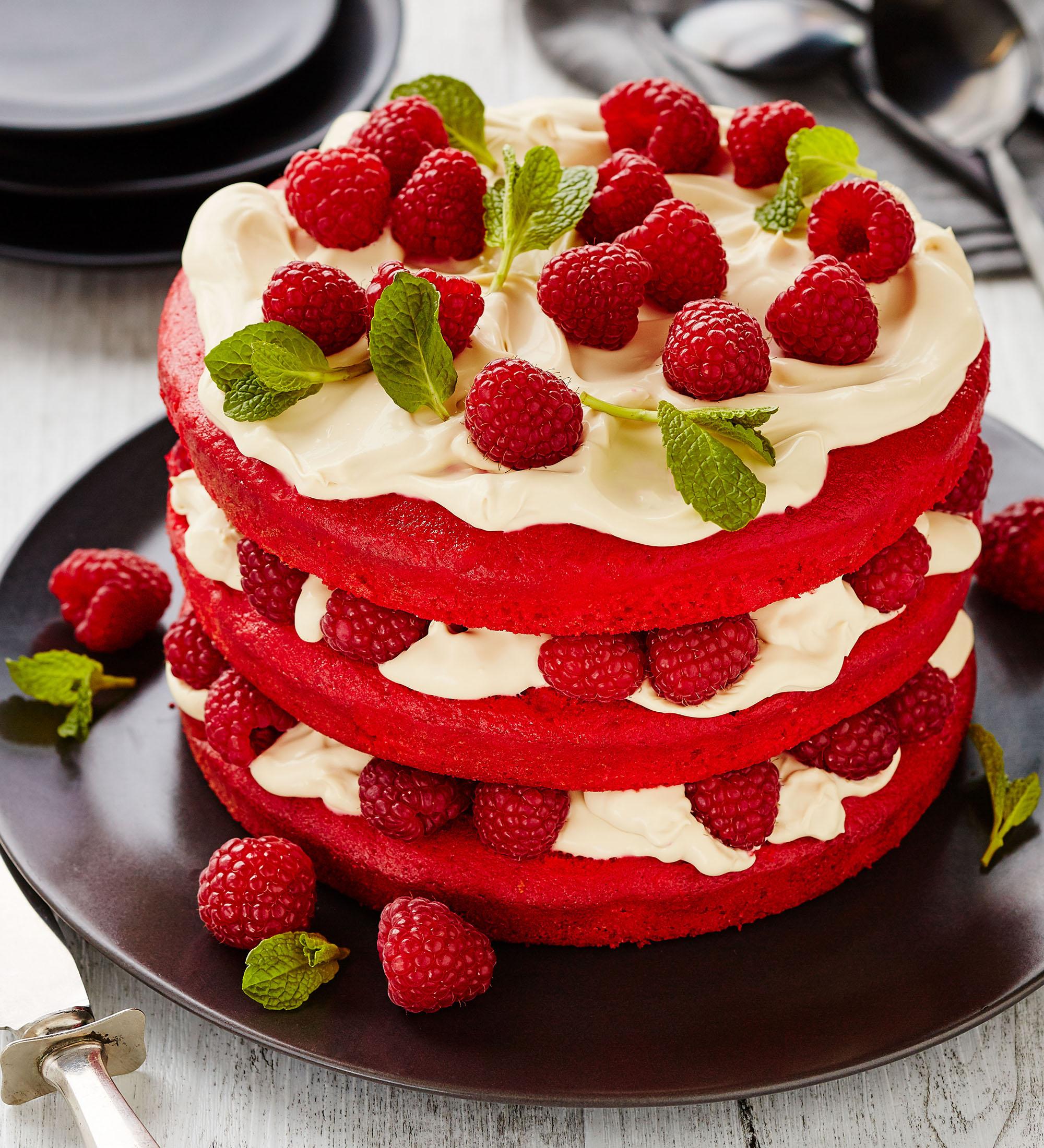Red Velvet Cake food styling