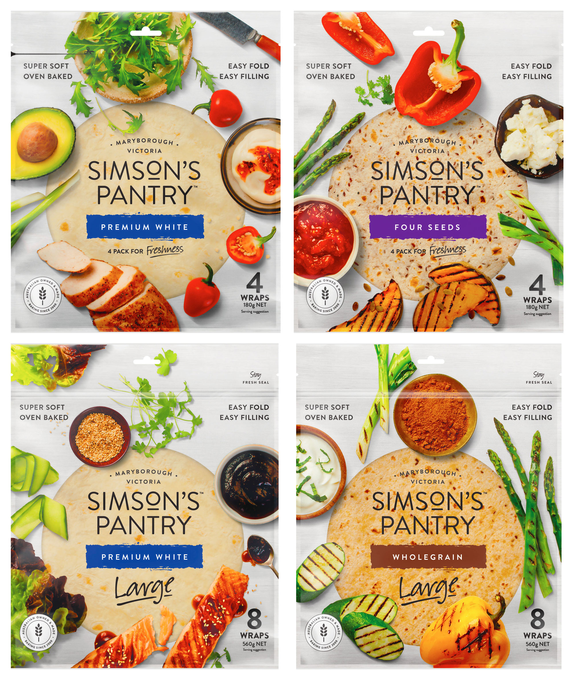 Simsons Wraps FMCG Food styling