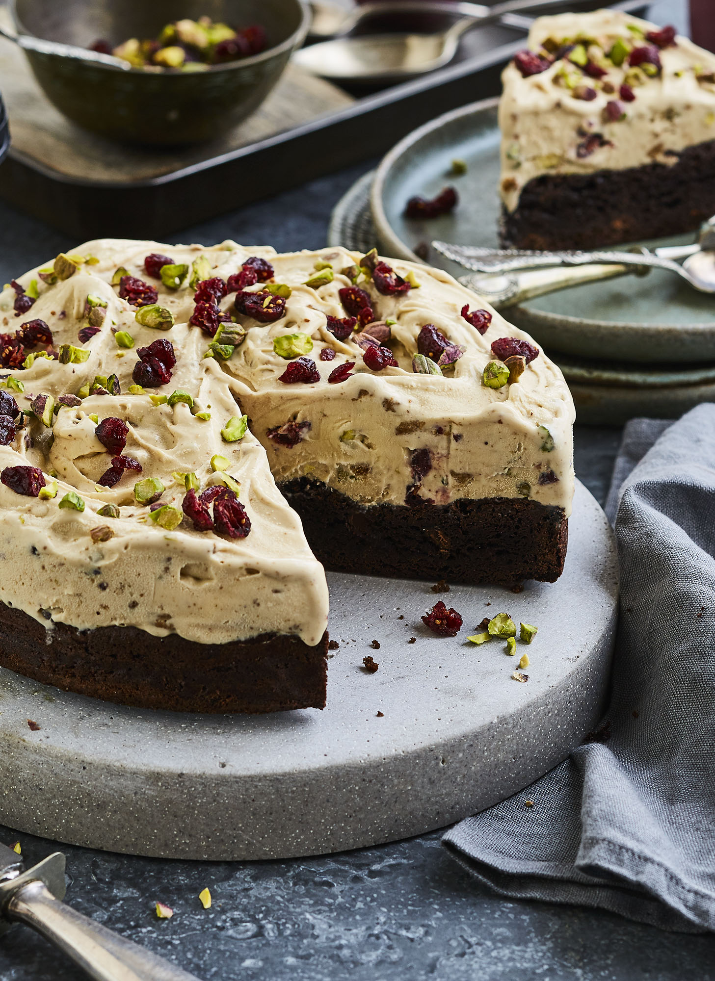 Brownie Tort food styling