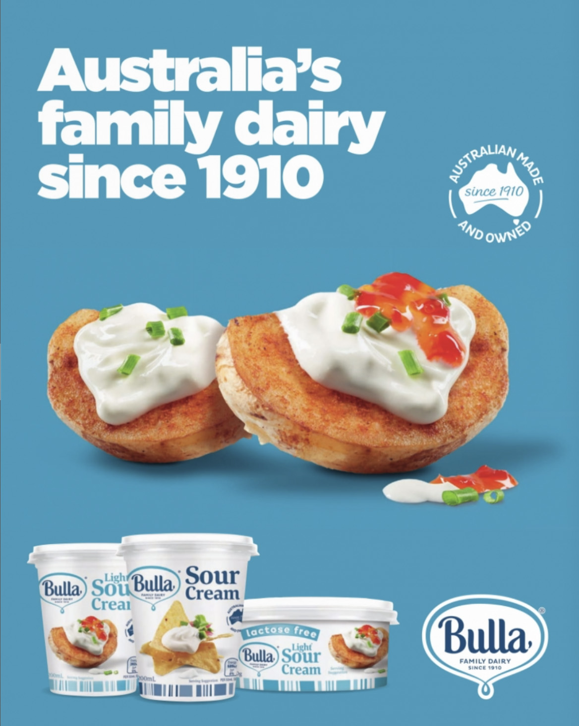 Bulla Sour Cream Ad FMCG Food styling
