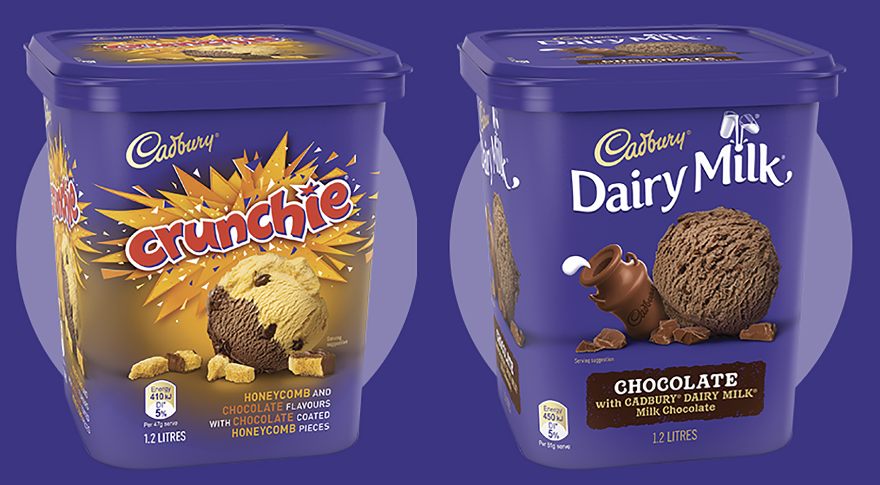 Cadbury Ice Cream FMCG Ad Packaging Food styling