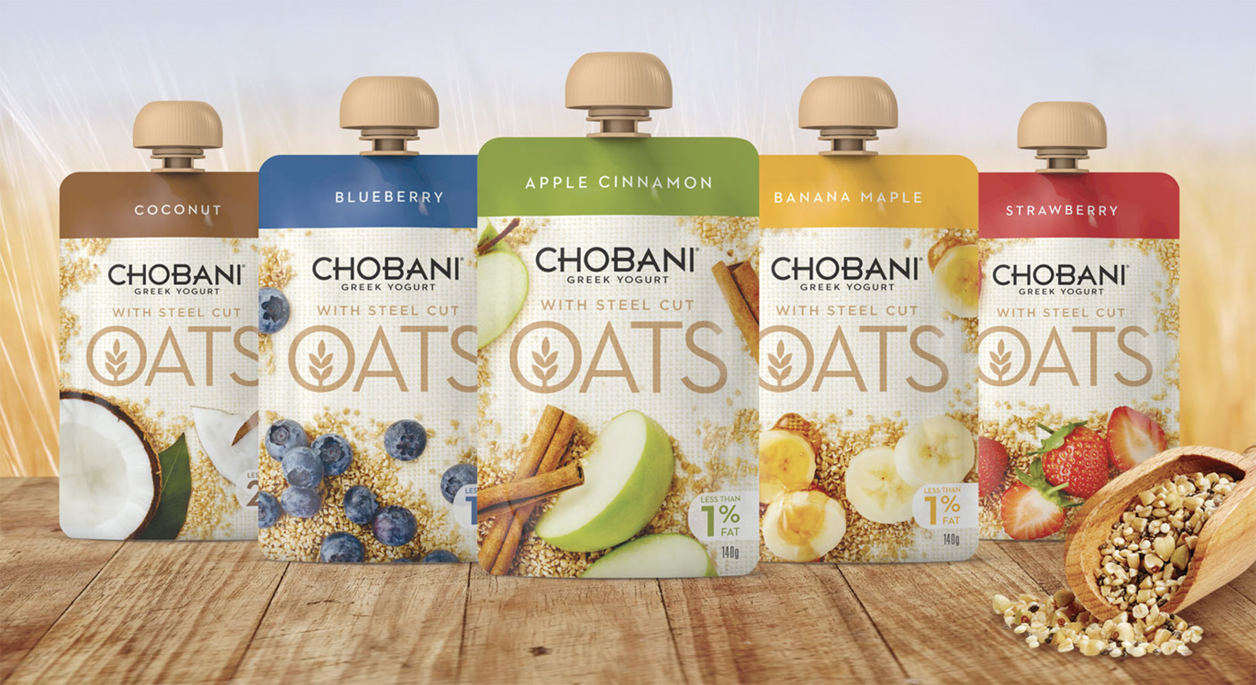 Chobani Oats FMCG Packaging Food styling