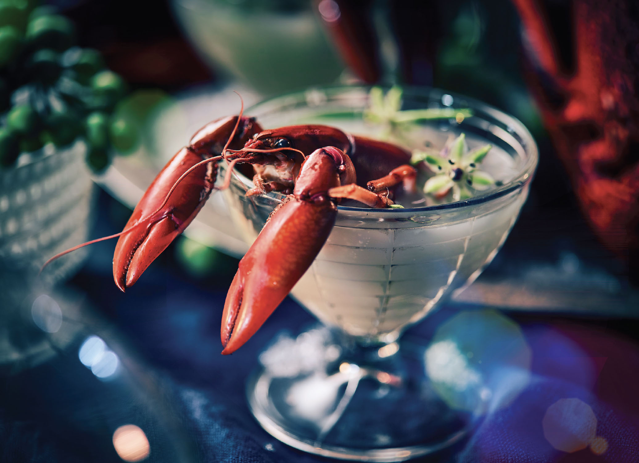 Crayfish seafood food styling