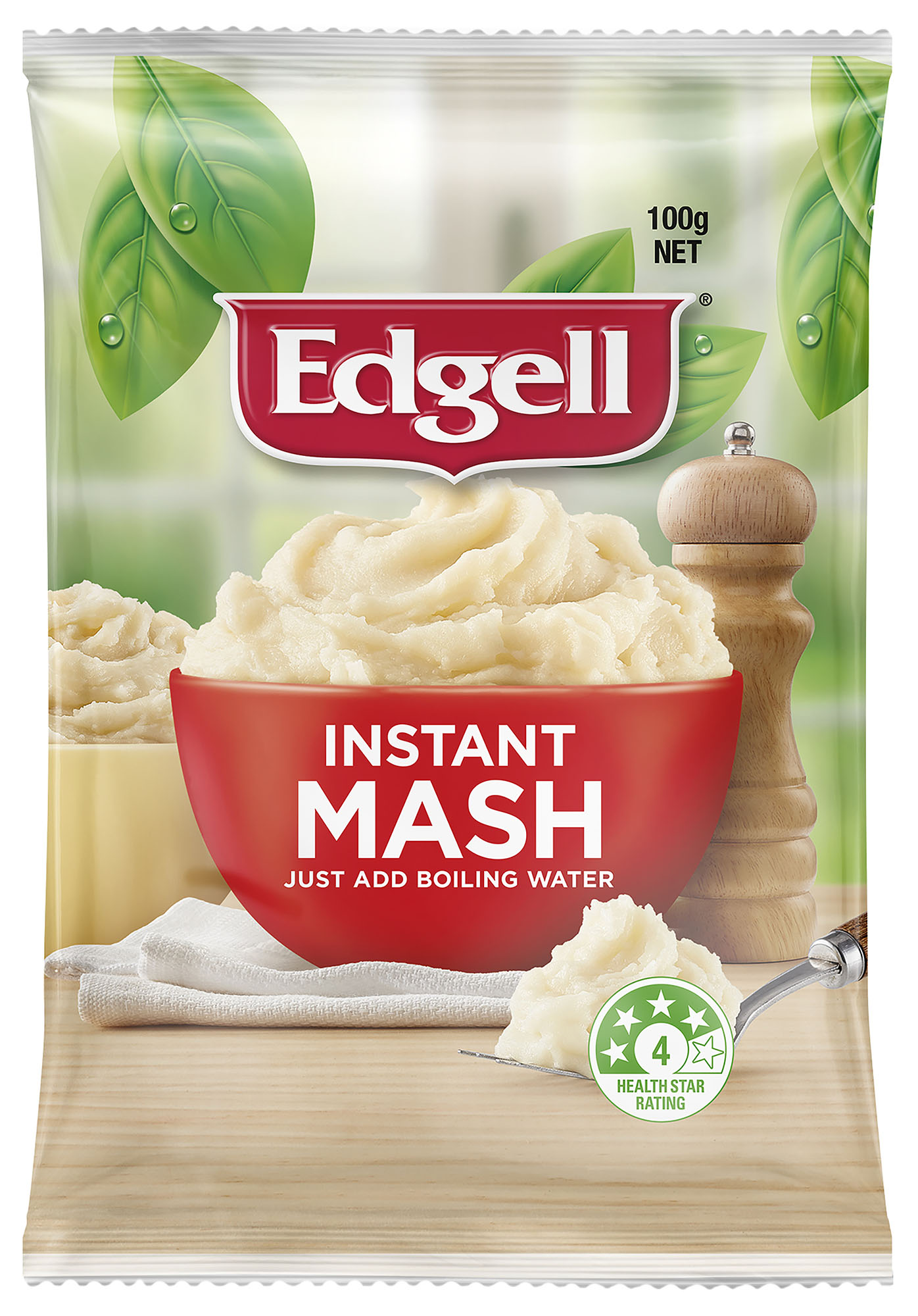 Edgell Instant Mash FMCG Packaging Food styling