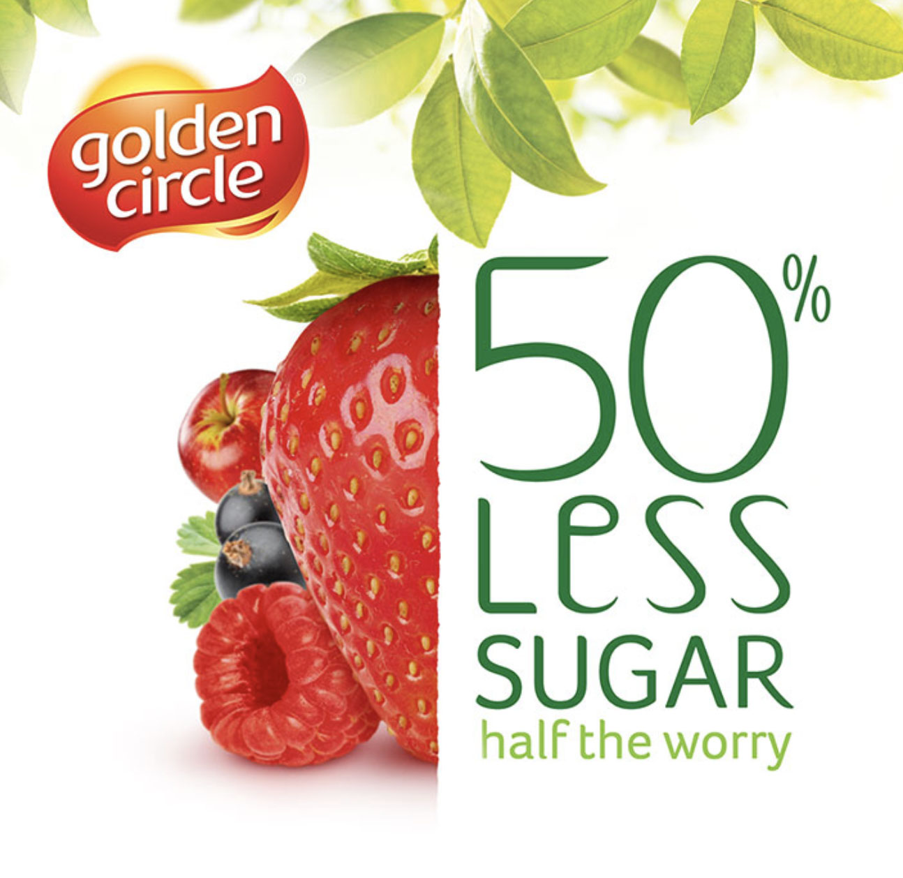 Golden Circle Less Sugar Juice FMCG Packaging Food styling
