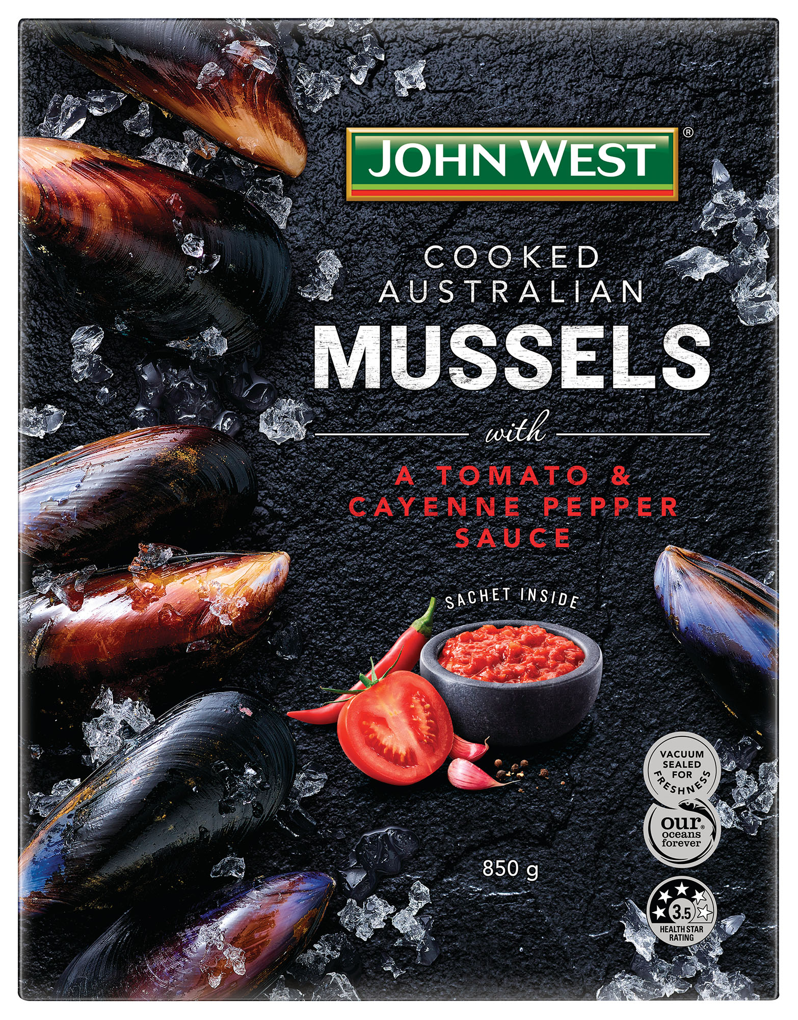 John West Mussels FMCG Ad Packaging Food styling