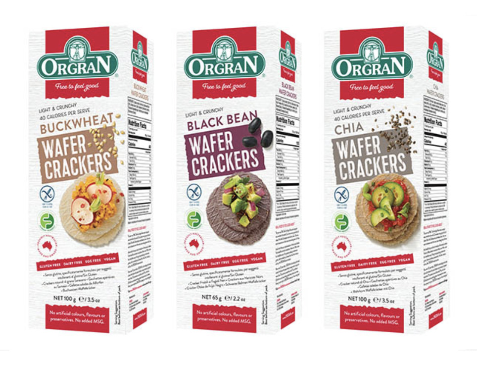 Orgran Crispbread FMCG Packaging Food styling