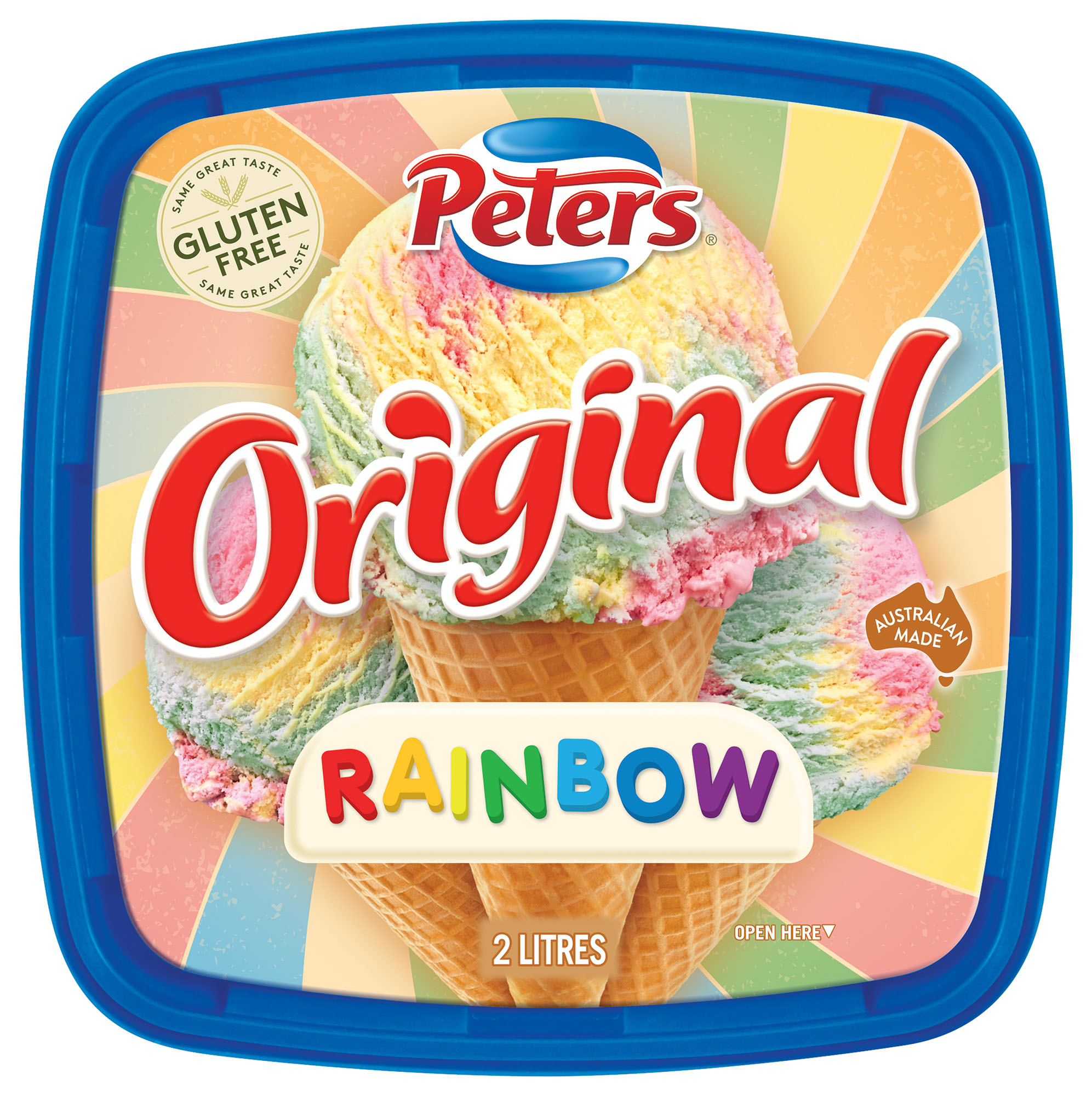 Peters Original Rainbow FMCG Packaging Food styling