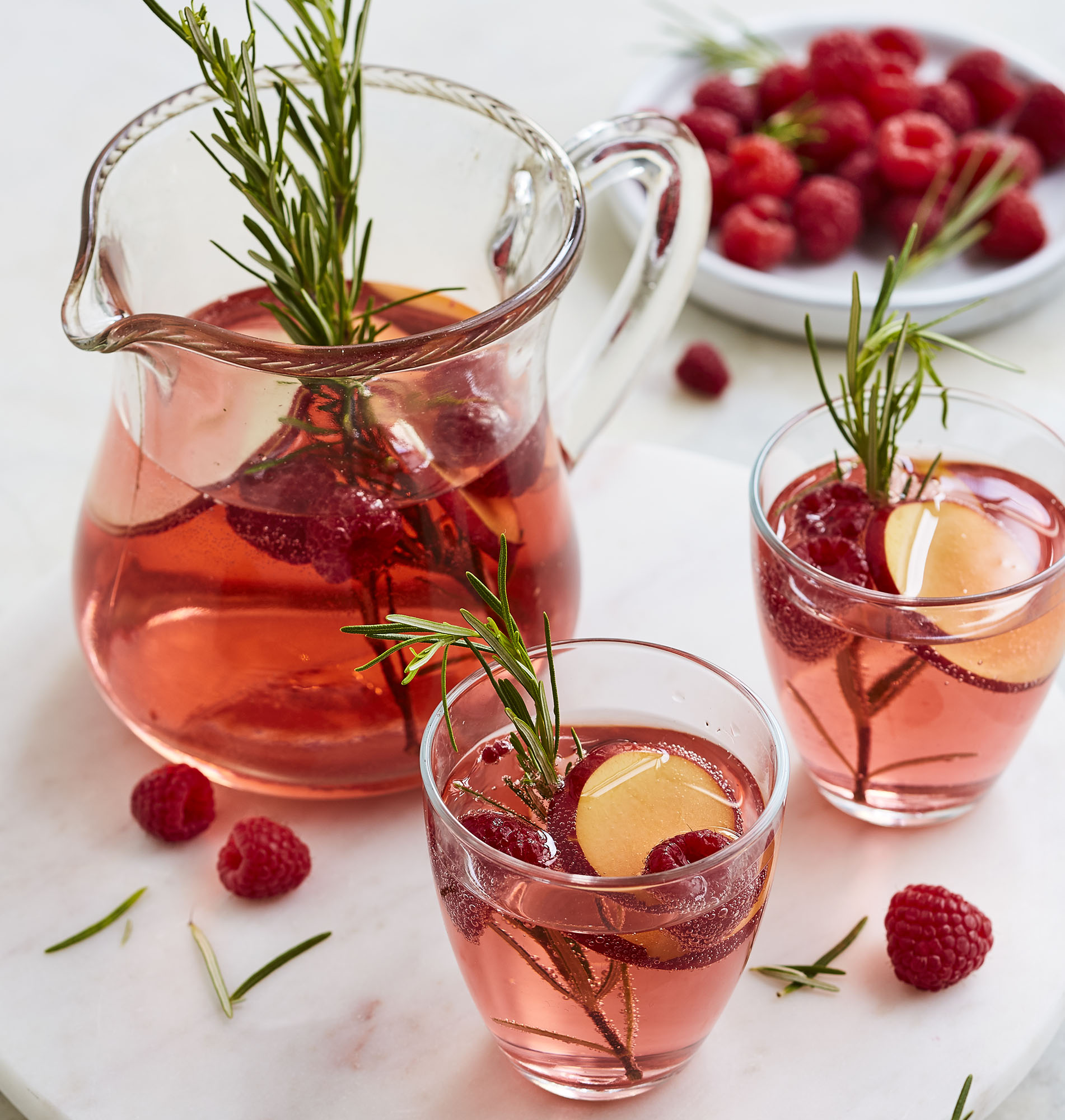 Sparkling Sangria Food and Beverage styling