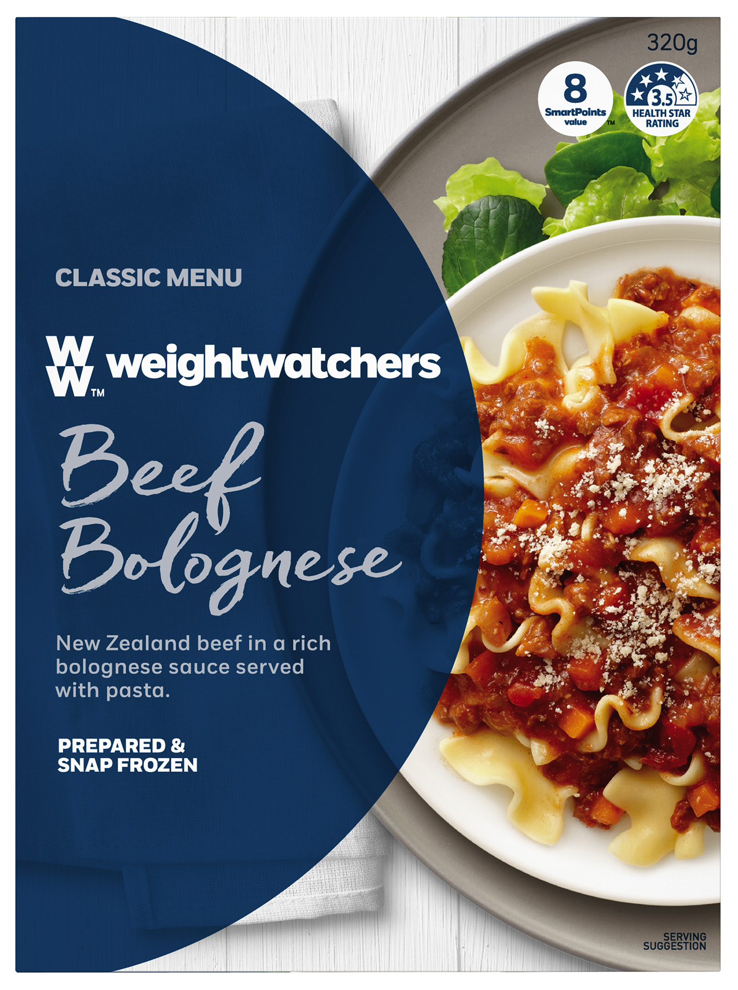 Weight Watchers_Beef Bolognaise FMCG Ad Food styling