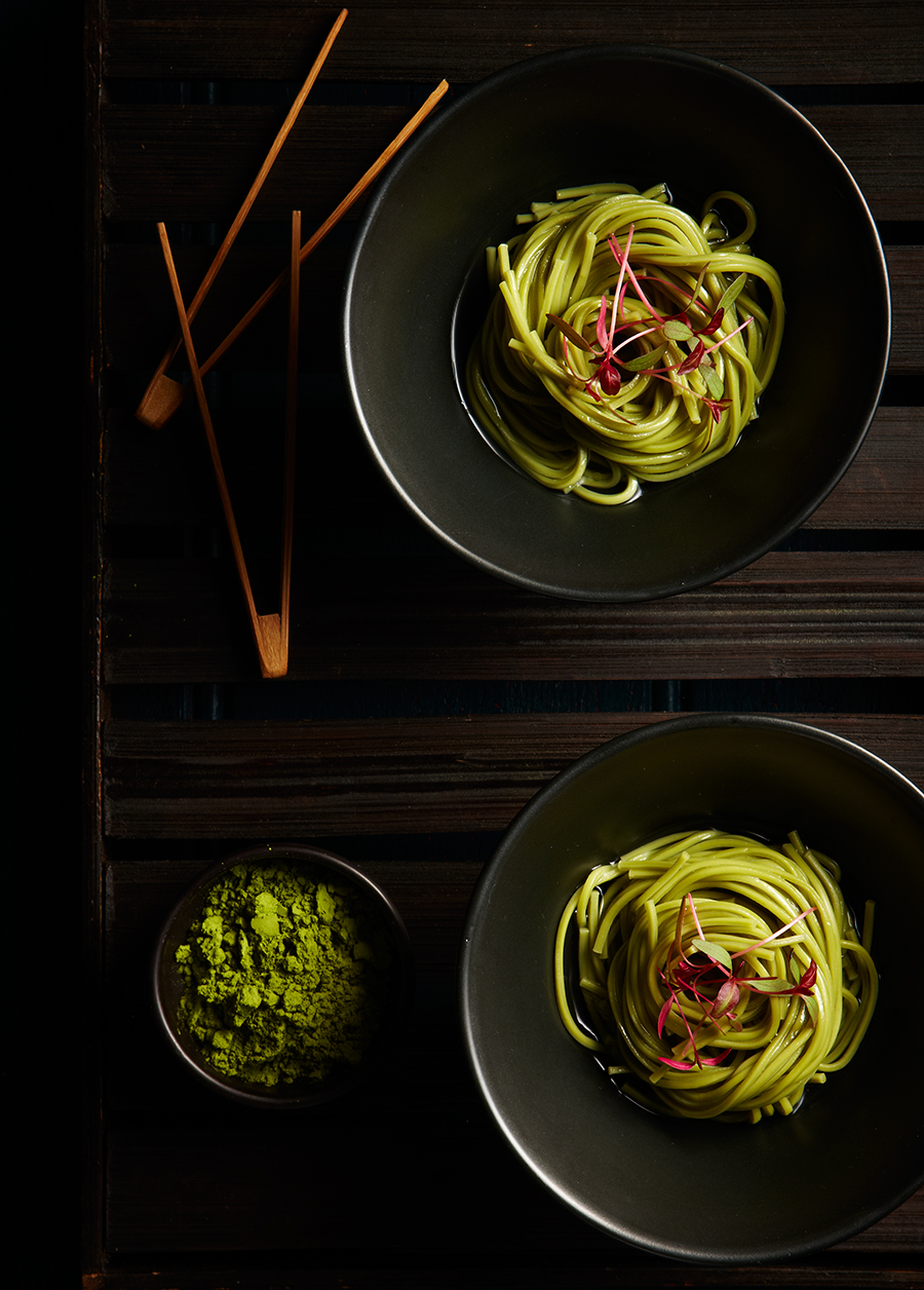 Noodles food styling
