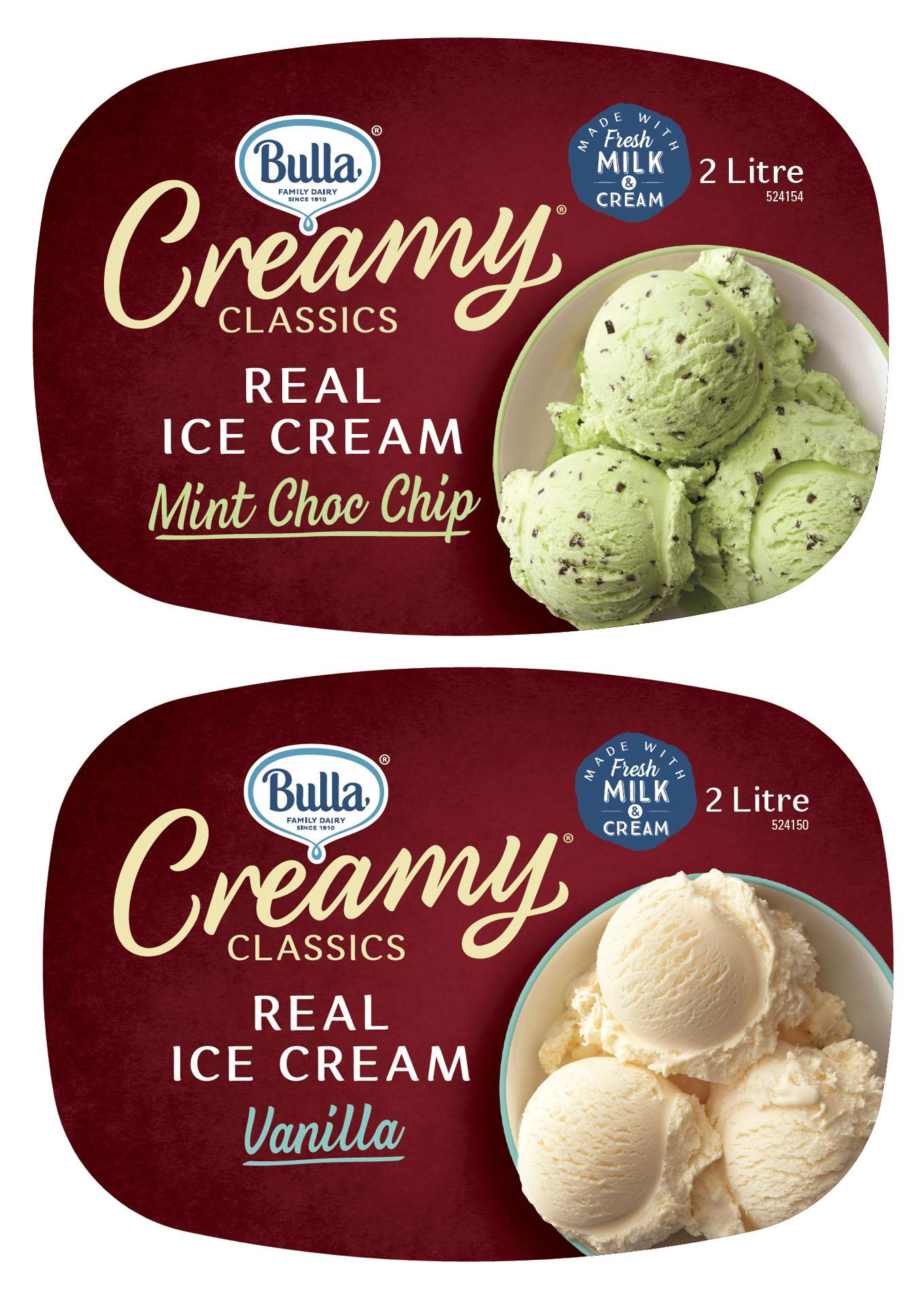Bulla Creamy Ice Cream Tubs